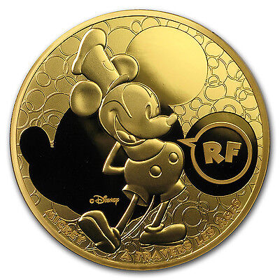 2016 France 1 oz Proof Gold Mickey Through the Ages - SKU #104209