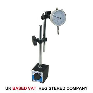 Dial Indicator Test DTI Gauge 0-10mm  Double Pole Magnetic Base 40111963