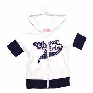 Junior Cheers Girls Short Sleeve Cotton Hoodie Vest *Size 4-5 Glen Waverley Monash Area Preview