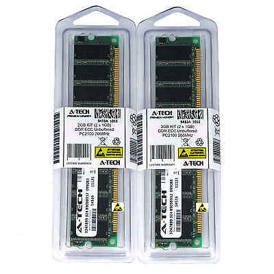 266 Mhz Kit (2GB KIT 2 x 1G DIMM DDR ECC Unbuffered PC2100 266MHz 266 MHz DDR1 2G Ram Memory)