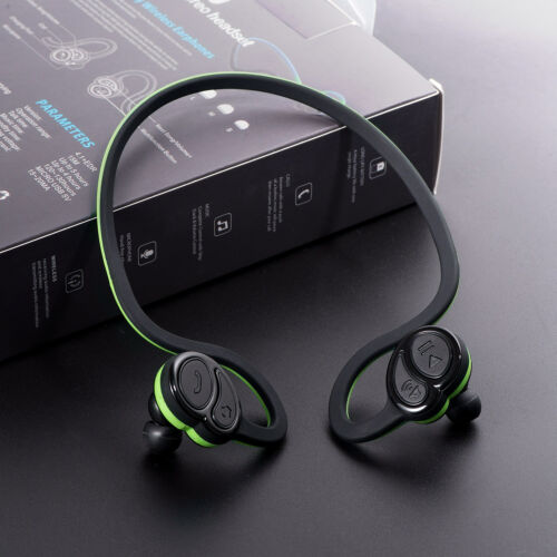 Waterproof Wireless Bluetooth Earbuds Earphone Hanging Neck
