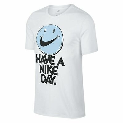 Nike Men's NSW HAVE A NIKE DAY Retro Smiley T Shirt WHITE 911903 100 Size XL