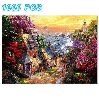 1000 Pieces Puzzles Romantic Town For Adults Kids Learning Education Jigsaw