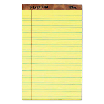 Tops The Legal Pad Ruled Perf Pad Legalwide 8 12 X 14 Canary 50 Sheets Dozen