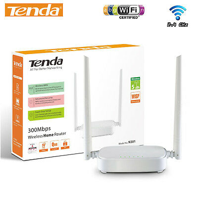 ROUTER WIFI Access Point LAN 2 Antenne N300 300Mbps WIRELESS DHCP TENDA N301