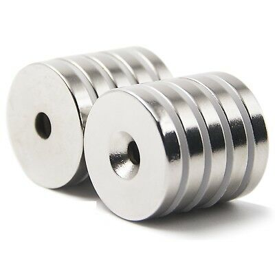 25 50 Strong Countersunk Ring Magnets 34 X18 Hole 3mm Rare Earth Neodymium