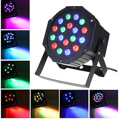 18 LED RGB PAR CAN DJ Stage DMX Lighting For Club Disco Party Wedding Uplighting
