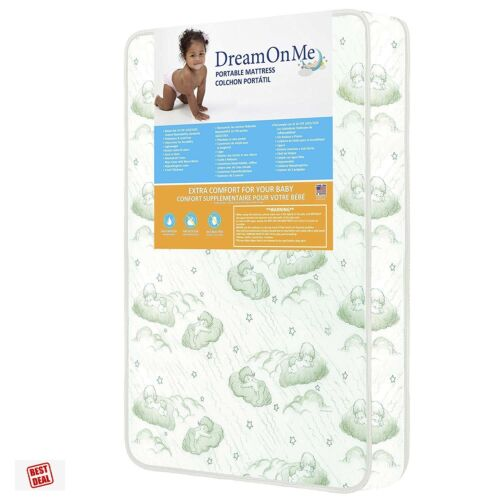 """Toddler Baby Play Yard Mattress For Graco Pack N Play And Others Dream On Me 3"""""""