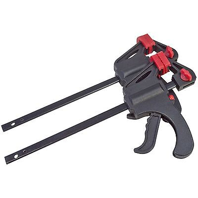 2Pc Quick Grip Ratchet Vice Bar Clamps 4 - 100mm Rapid Clamp Spreader Set New