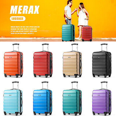 Expandable Luggage Hard Shell Lightweight Suitcases 4 Wheels Lock Case 20/24/28