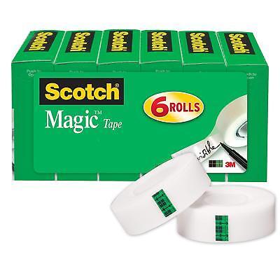 School Transparent Tape For Dispenser Clear Desktop Scotch 34 1000 6 Rolls