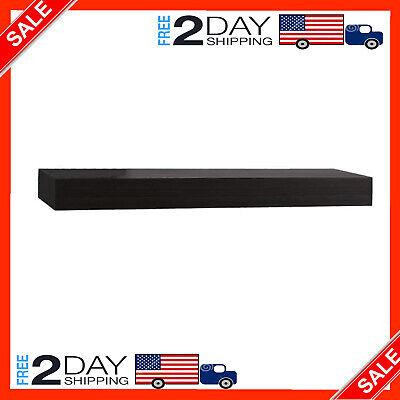 InPlace Shelving, Black 0191402 36 in W x 10 in D x 2 in H Floating Wall Shelf x