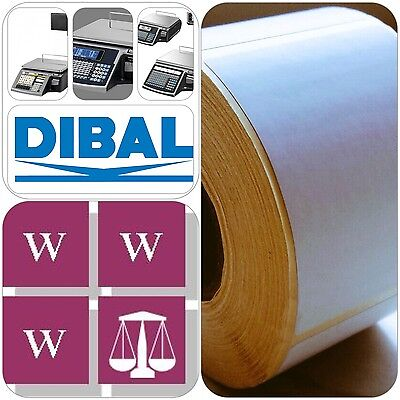 DIBAL Thermal  Scale Labels - 58mm x 60mm, 36 Rolls,  18,000 Labels