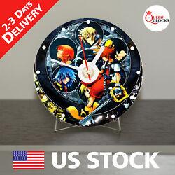 Kingdom Hearts Game CD Clock - Exclusive gift Decor - Idea for Home !