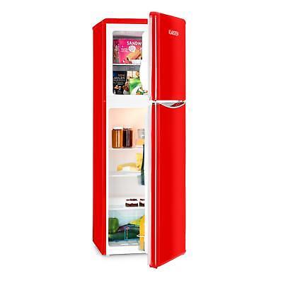 [REACONDICIONADO] Klarstein Monroe XL Red combi Nevera y Congelador Frigorifico