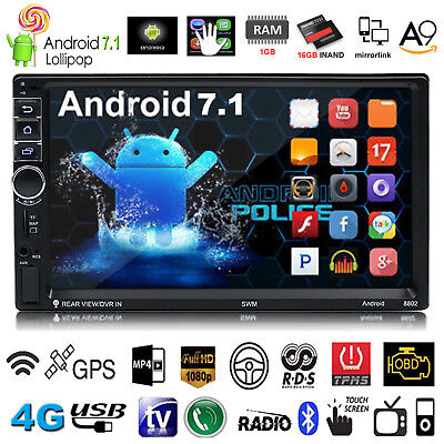 Android 7 1 7  Quad Core Hd 1080P 4G Double 2Din Gps Car Radio Stereo Mp5 Player