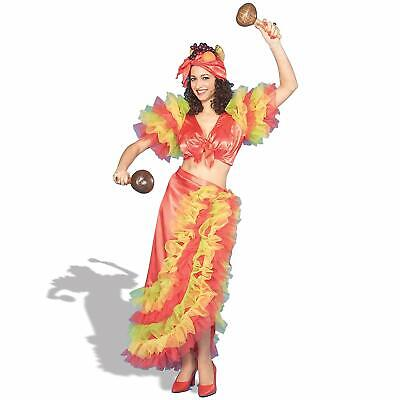 Latin Dancer Spanish Girl Salsa Tropical Fancy Dress Up Halloween Adult Costume