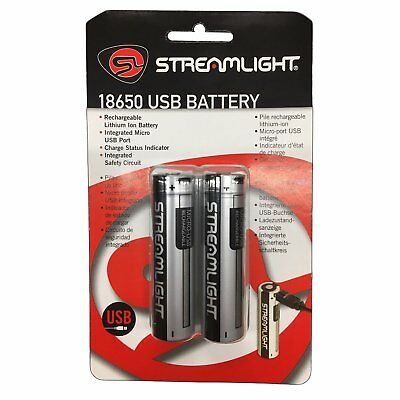 (Streamlight USB Rechargeable 18650 Lithium-Ion Battery - 2 Pack - 22102)