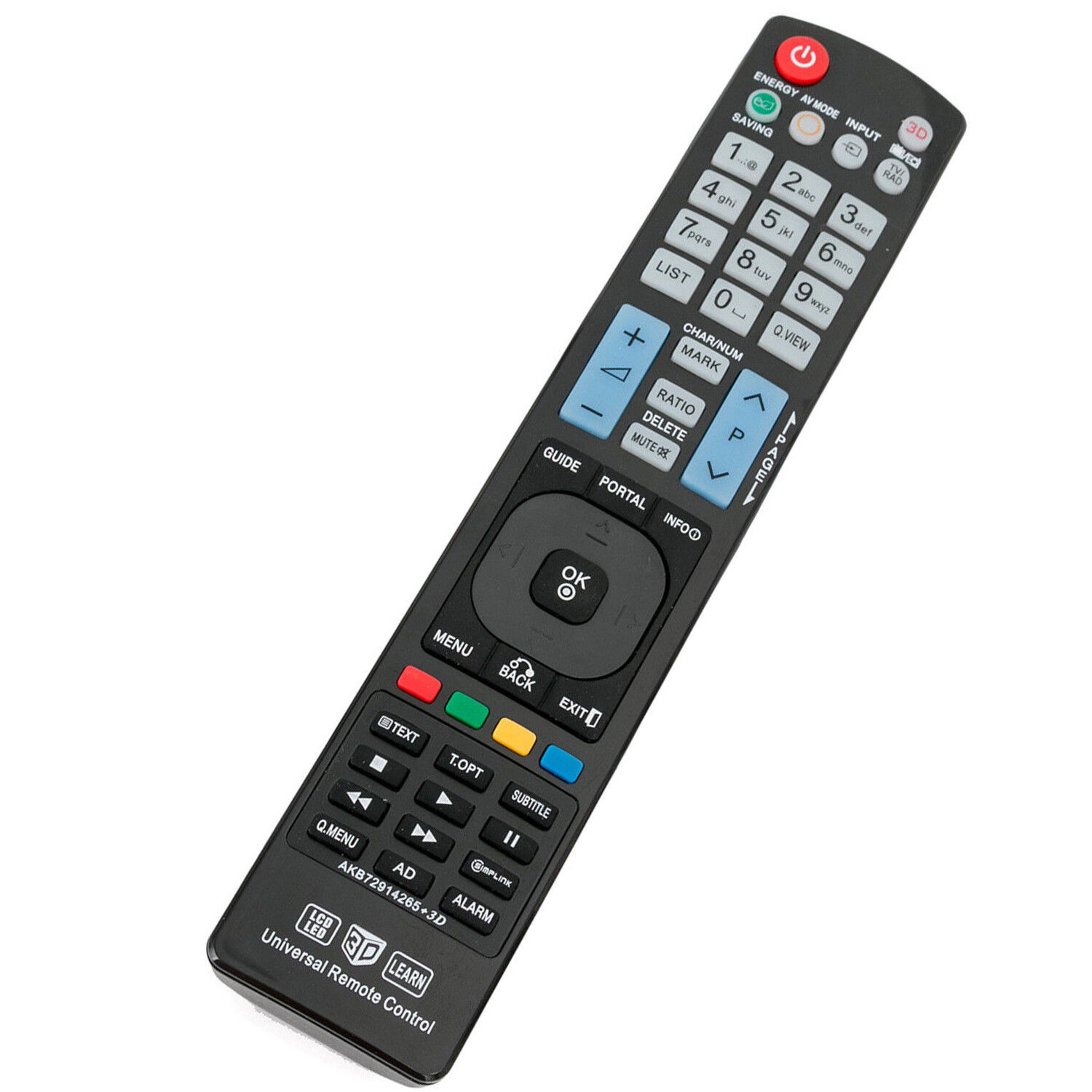 AKB72914265 Universal Remote Control for LG LED LCD 3D LEARN