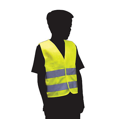 High Visibility Child Reflective Safety Vest Waistcoat Florescent Hi Vis Yellow