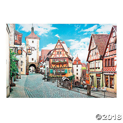 OKTOBERFEST Party Decoration Wall German Village Backdrop Photo Prop 3pc Set