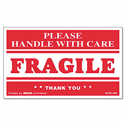 Universal Fragile Handle With Care Self-adhesive Shipping Labels 3 X 5 500roll
