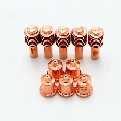 5pcs 220669 Electrodes 5 Pcs 220671 Nozzle Fits For Powermax 45 Aftermarket