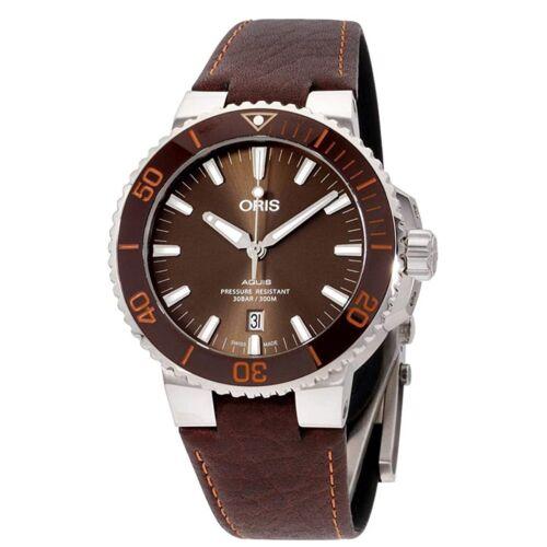 Oris 01 733 7730 4152-07 5 24 12EB Men's Aquis Date Brown Automatic Watch - watch picture 1
