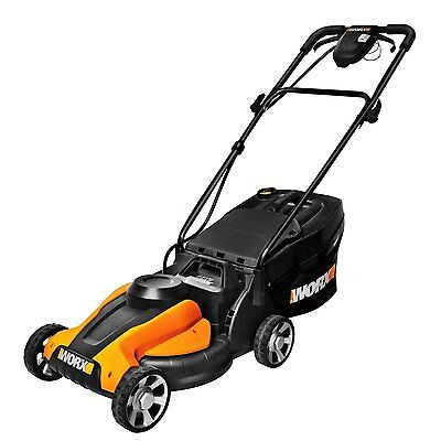 """WORX WG775 24V Cordless 14"""" Lawn Mower with Removable Battery"""