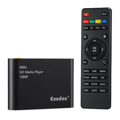 HD TV Multi Media Box Player 1080P HDMI AV YUV Adapter SD MMC MS Remote ON SALE