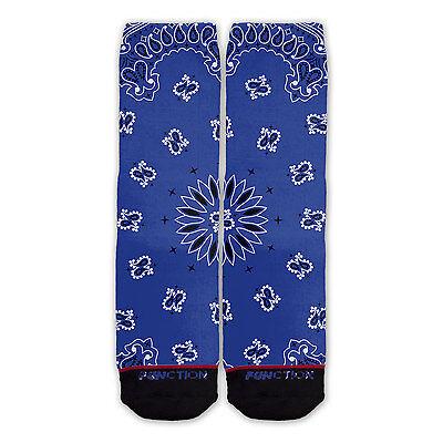 Function - Blue Bandana Fashion Socks cowboy pattern kerchie