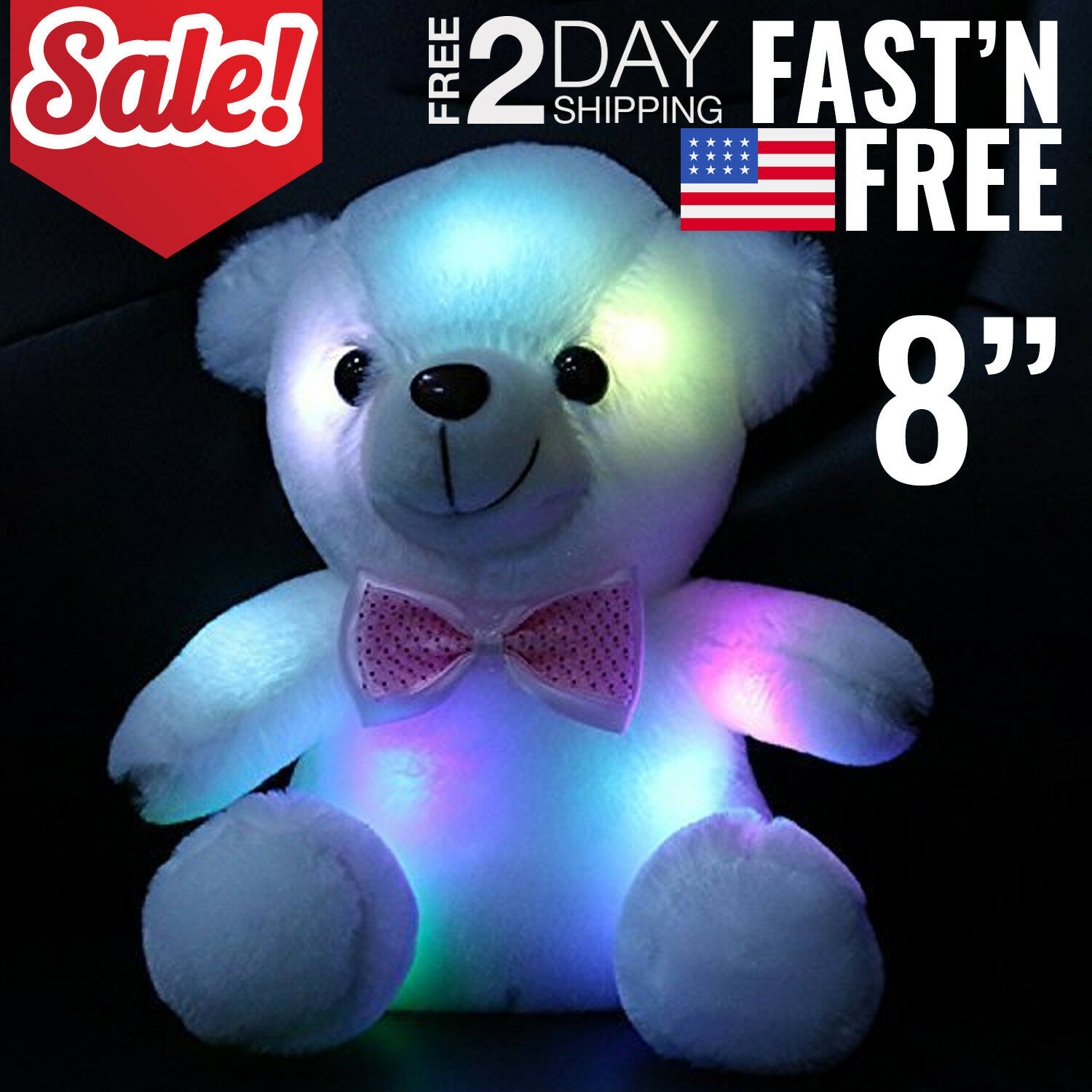 $15.99 - Toys For Girls LED Stuffed Bear Toy Kids Night Light Lamp Year Old Girl Cool Toy