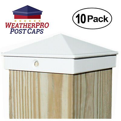 4x4 Fence Post Caps - Deck, Mailbox, Light Post - Aluminum White 10-Pack Outdoor 6' Aluminum Light Post