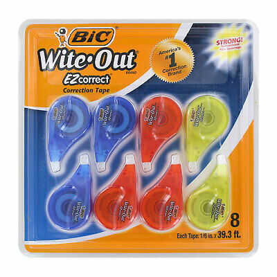 Bic Wite-out Ez Correct Correction Tape Non-refillable 16 X 39 Ft 8-count