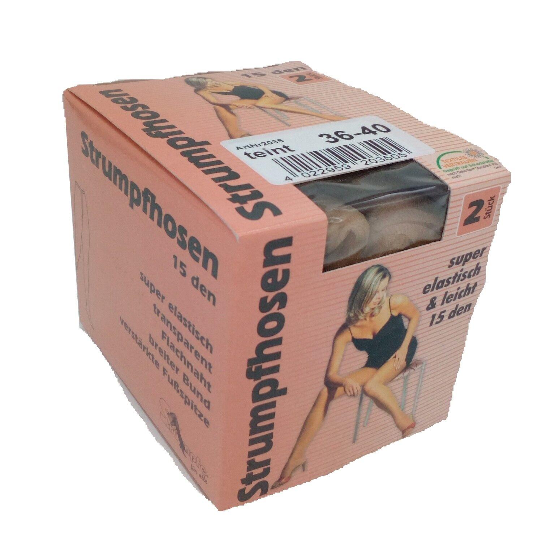 Strümpfe für alle Feinstrumpfhose 15 - 15den - Gr. 36/40 bis 44/46 (2er Pack)