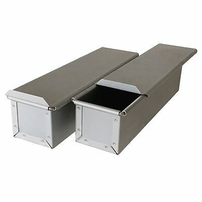Bread Mold with Lid 2sets Steel Square Large slim baking pan made in Japan