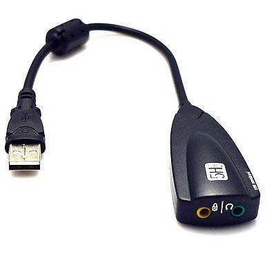 Black Steel Series USB 2.0 5H CH V2 Virtual 7.1 Sound Card For Desktop Notebook 5h V2 Usb