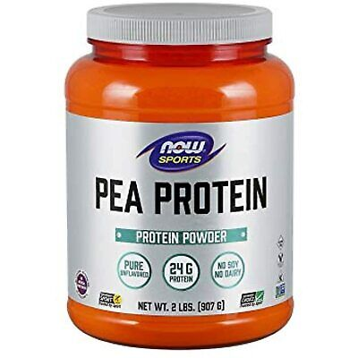 NOW Sports Nutrition Pea Protein 24 G Fast Absorbing Unflavored Powder Ex 2/21