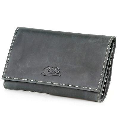 TOBACCO POUCH STRAP COLUMBUS LEATHER 2 PIPE CASE BAG COMPARTMENTS // GREEN
