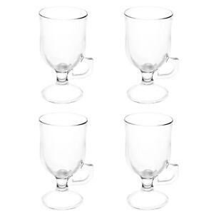 Luminarc Set Of 4 Irish Coffee Glass Cappuccino Latte Chocolate Drink Cup Mug