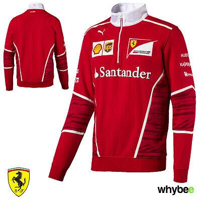 2017 Vintage Ferrari F1 Formula One Team Mens Half Zip Sweatshirt Jumper by Puma