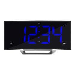 617-249 La Crosse Technology Atomic Curve LED Dual Alarm Clock with USB Port