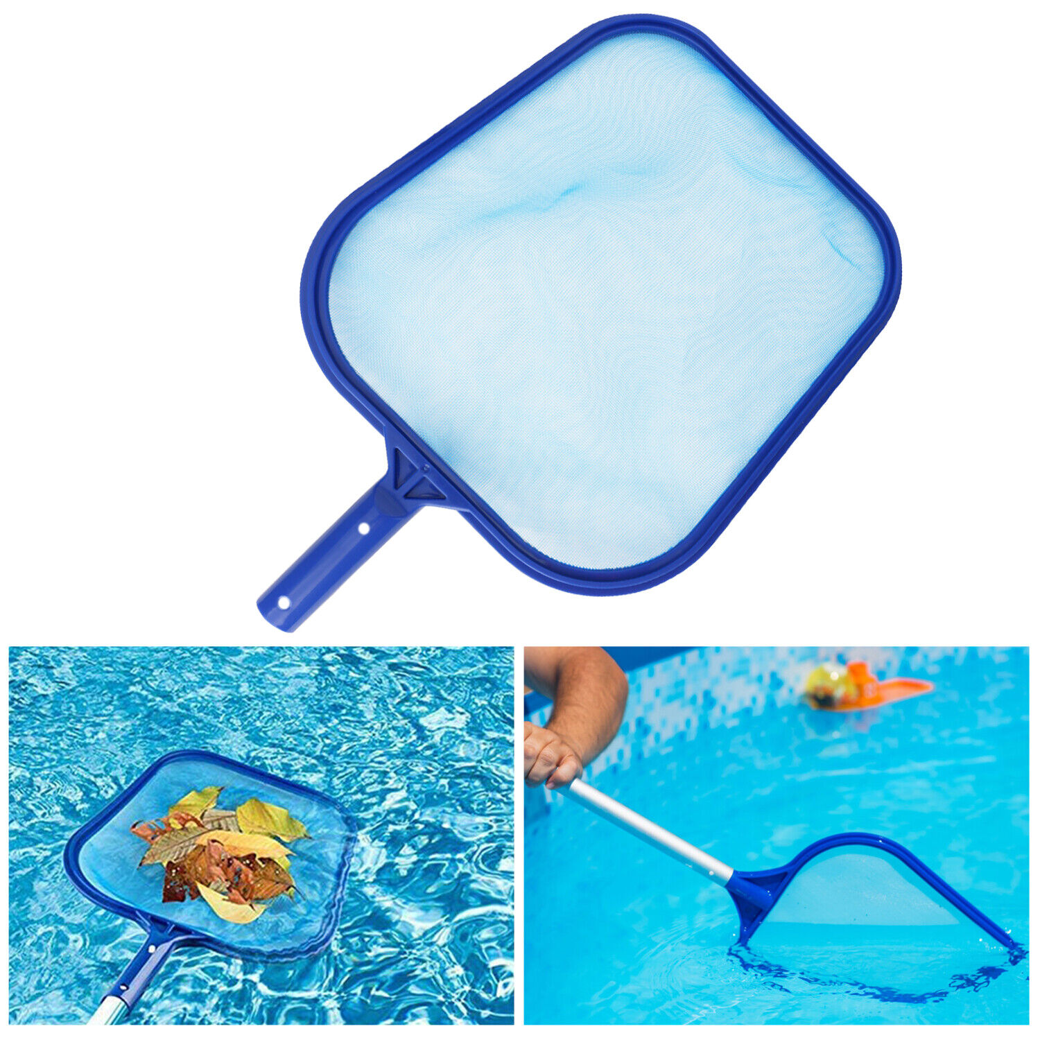 Swimming Pool Leaf Skimmer Rake Mesh Net Spa Pond Cleaning With Telescopic Pole Handheld Pool Brushes & Nets