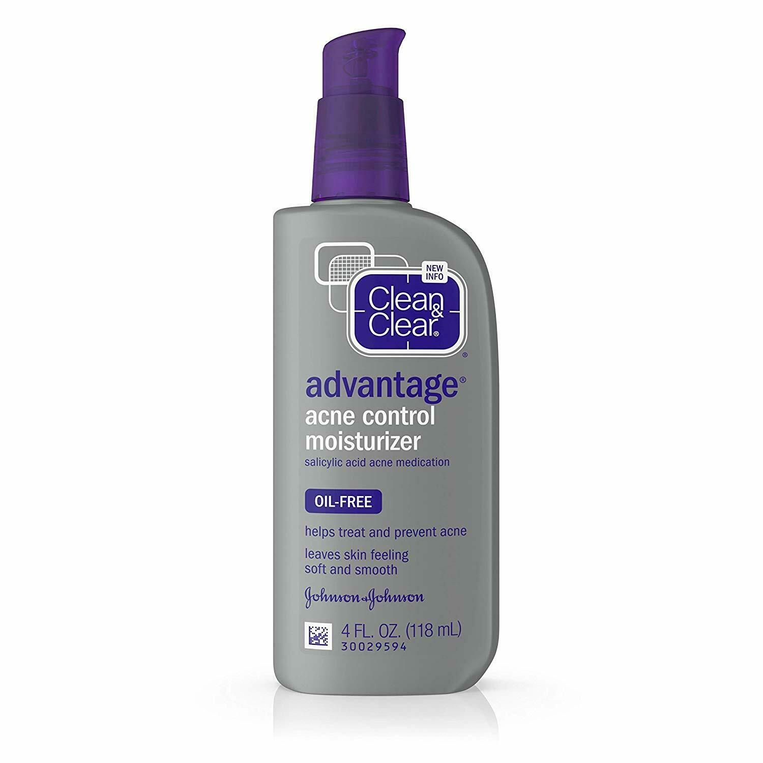 Clean & Clear ADVANTAGE Acne Control MOISTURIZER 4oz Oil-Fre