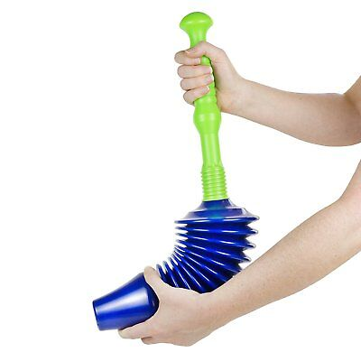 Toilet Plunger Blockage Clearing WC Jam Remover Strong Plumber Powerful Air Hole Wc Plunger