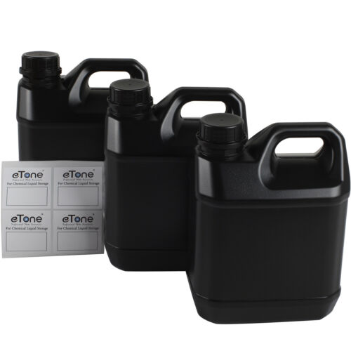 3x 2L Darkroom Chemical Storage Bottles For B&W Film Photo Developing Processing