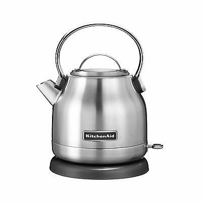 KitchenAid Brushed Stainless Steel Electric Kettle- 5 Cup 1.25-Liter - KEK1222SX