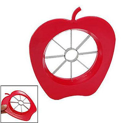Gadget Apple Fruit Easy Slicer Cutter Corer Christmas Gift Kitchen Tool Red Xmas