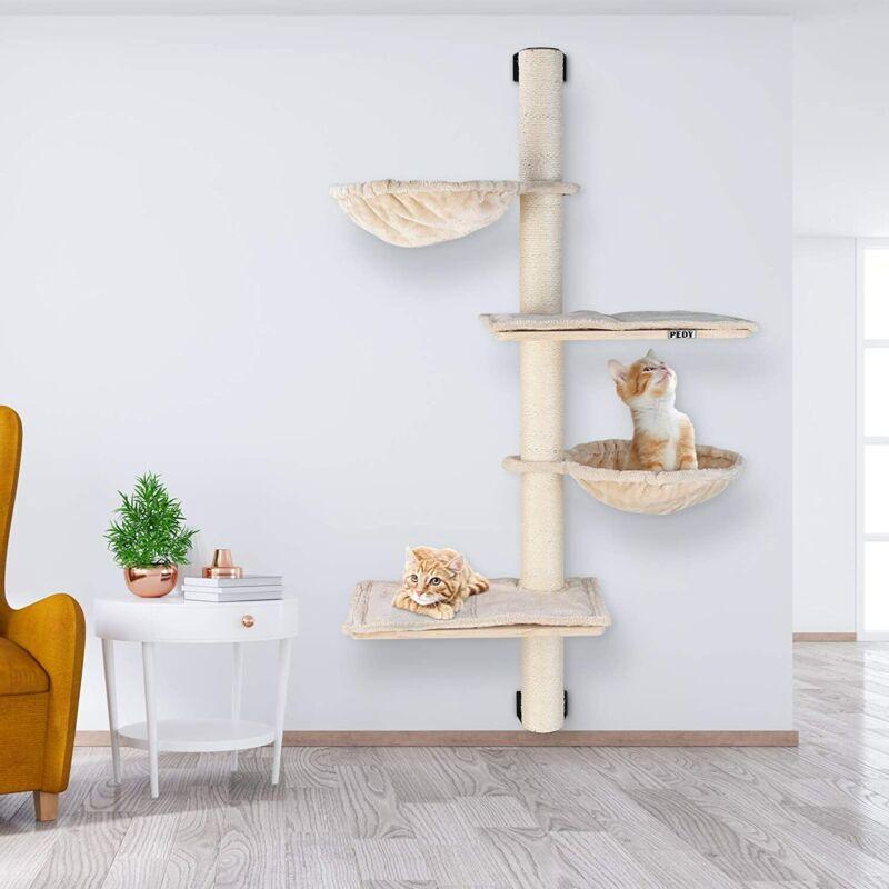 Wall Mounted Cat Tree Scratching Condo Tower Furniture Scratch Post Pet Kitten