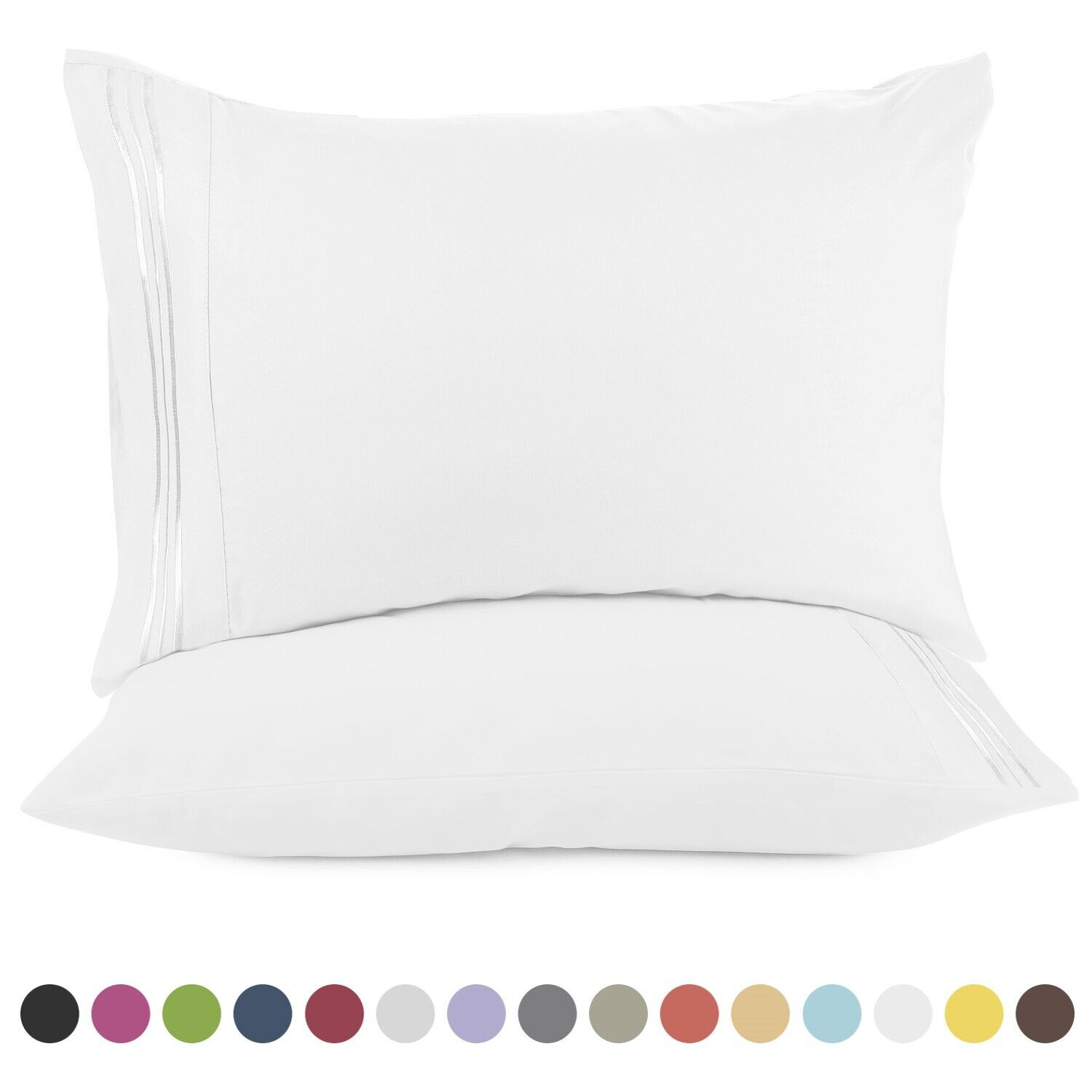 1800 Pillow Case Set Standard or King Pillowcase Set of 2 Pillow Cases